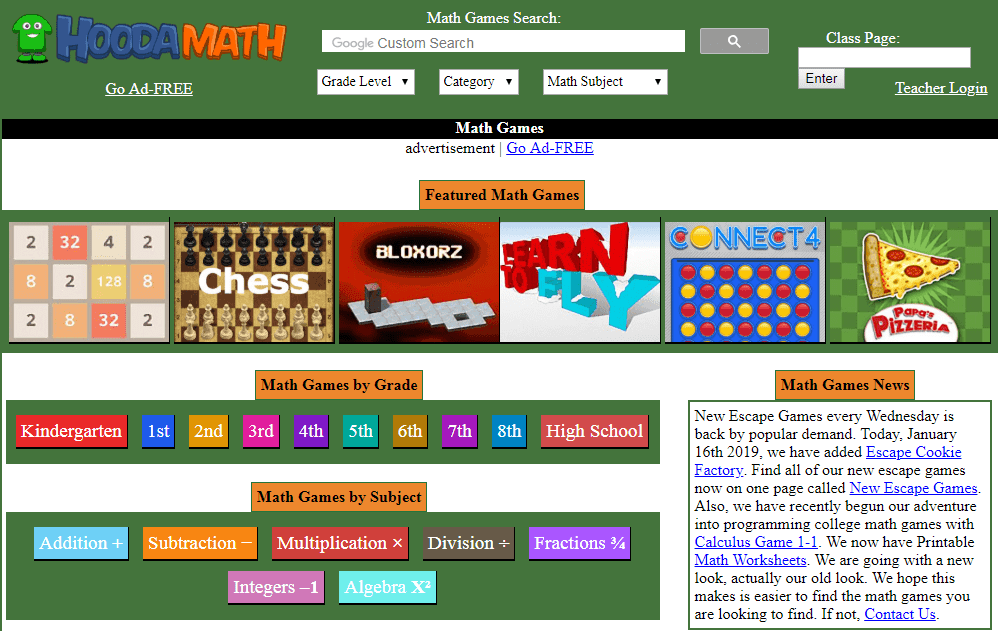 Math Games over 1000 free games hoodamath com-min