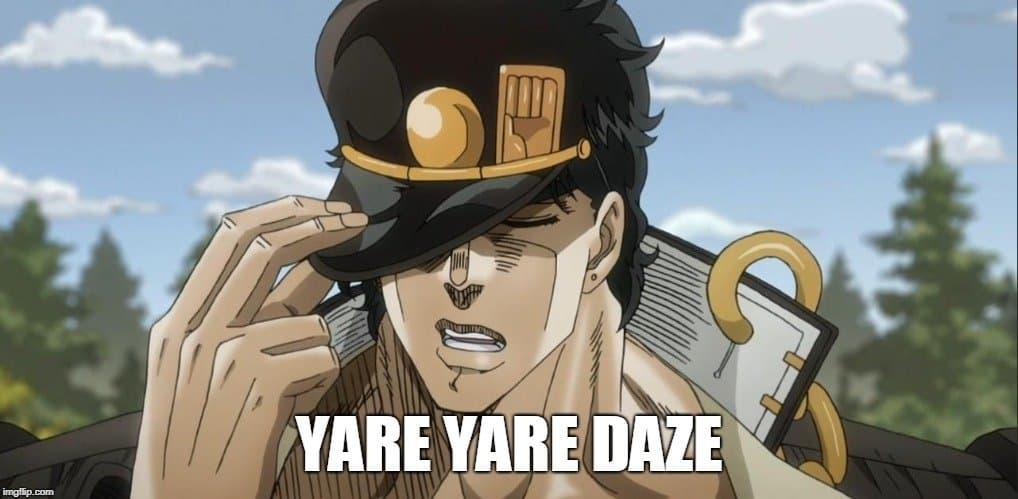 yare yare daze meme