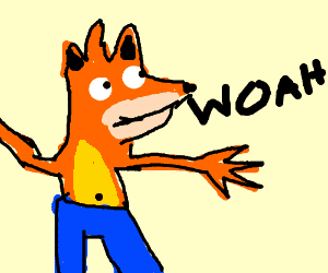 A drawing of a cartoon character Description automatically generated
