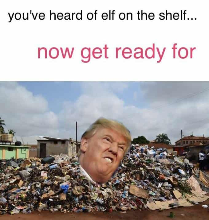 Donald Trump in the dump